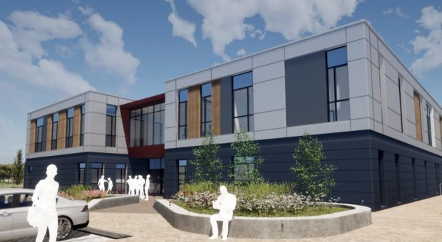 An artist's impression of the new centre.