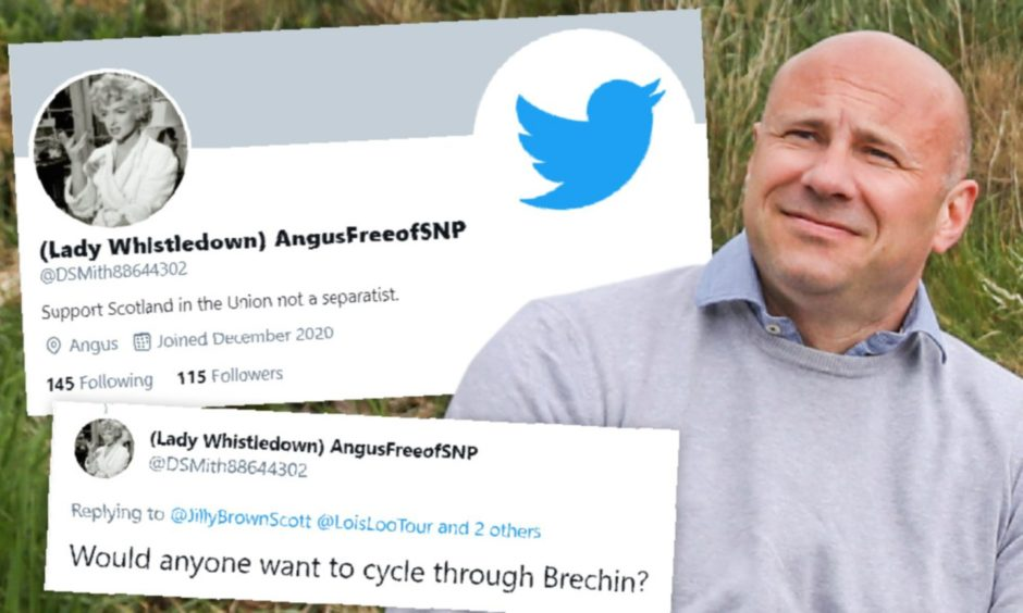 Tory councillor Derek Wann has been unmasked as the man behind an anonymous troll account.