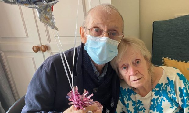 Betty and Ronald Watson celebrate 70th anniversary. Supplied by Lethen Park care home.