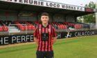 Inverurie Locos' new signing Lloyd Robertson