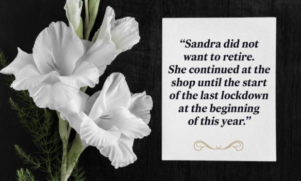 To go with story by Chris Ferguson. Sandra Gordon obituary Picture shows; Sandra Gordon has died aged 60. Unknown. Supplied by DCT design team Date; Unknown