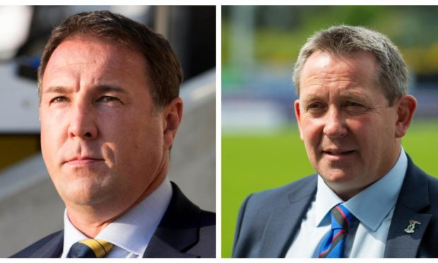 Ross County manager Malky Mackay (left) and Caley Thistle manager Billy Dodds.