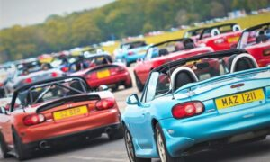 Grampian members of the Mazda MX-5 Owners Club took part in the world record attempt at Elvington at the weekend.