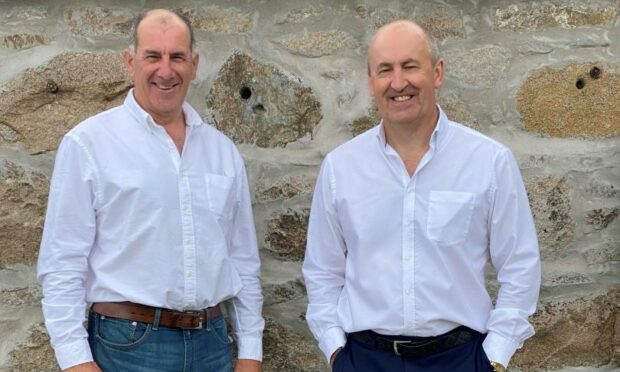 l-r Energy industry veterans Mike Wilson and Doug Duguid, who have, together with other investors, acquired Oldmeldrum business Recycl8