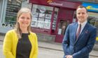 Northwood (Aberdeen) managing director Laura Mearns and operations director Matt Pullinger outside the new shop in Inverurie.