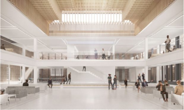 An artist's impression of the new flagship atrium at King's Quarter.