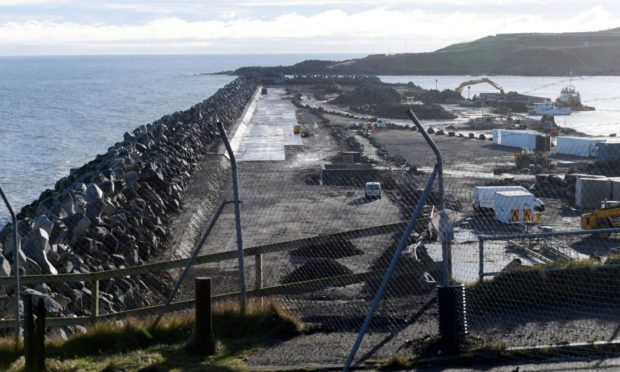 Work continues on the Aberdeen South Harbour