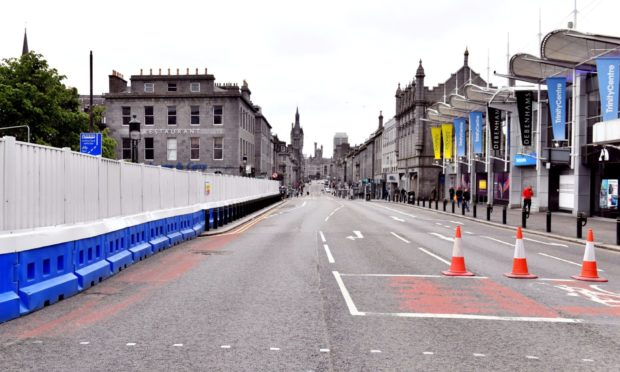 The incident happened in a pedestrianised section of Union Street.