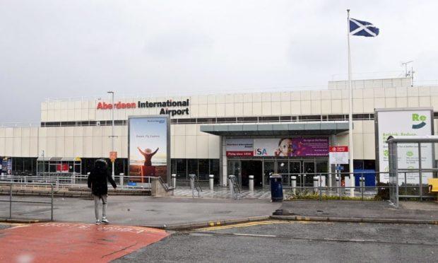 Aberdeen International Airport   Picture by Scott Baxter    02/04/2021