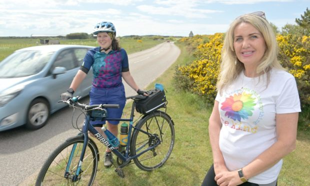 Melanie Newbould of the Laich of Moray Active Travel Group, pictured left, and Carolle Ralph of Lossiemouth Community Council close to the proposed route of the path near Lossiemouth.
