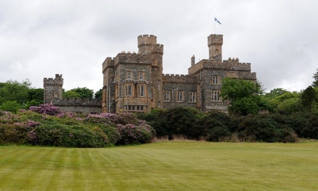 Emergency services were called to the grounds of Lews Castle in Stornoway at around 7pm. Image by Sandy McCook.