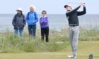 Calum Scott in stroke play action at Nairn. Picture by Sandy McCook