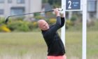 Matthew Clark, of Kilmacolm, on the second tee.  Picture by Sandy McCook