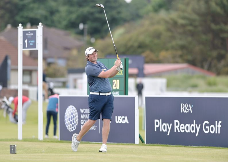 Nairn's Fraser Fotheringham just missed the cut by three shots after two days of stroke play action.