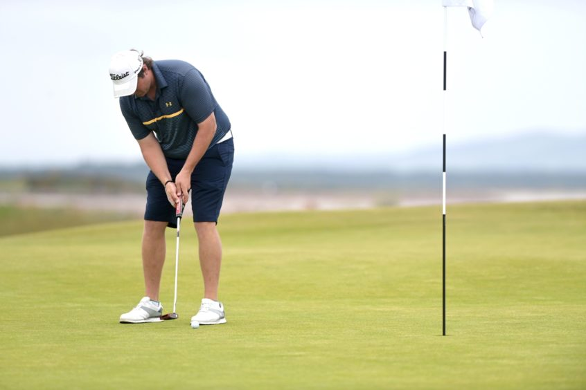 Nairn's Fraser Fotheringham on the first green.