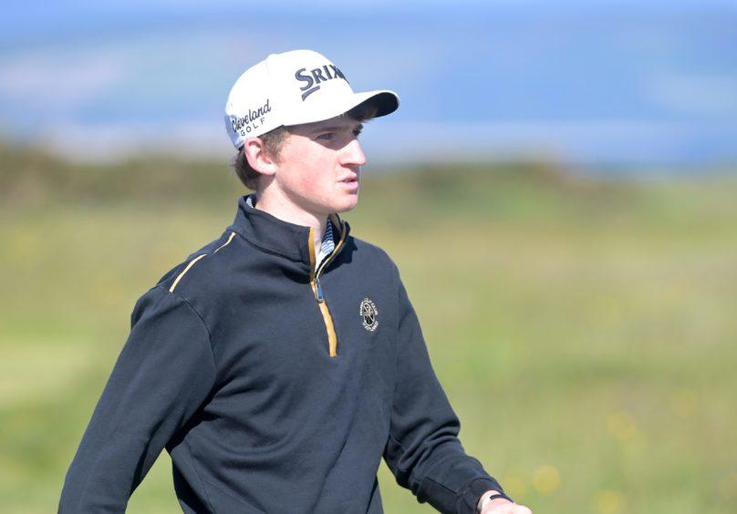 Calum Scott enjoyed his week at his home club of Nairn Golf Club.
