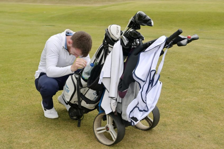 Amateur champion Laird Shepherd can't believe he's come back from eight holes down to win the final.. Nairn Golf Club. Supplied by Sandy McCook Date; 19/06/2021