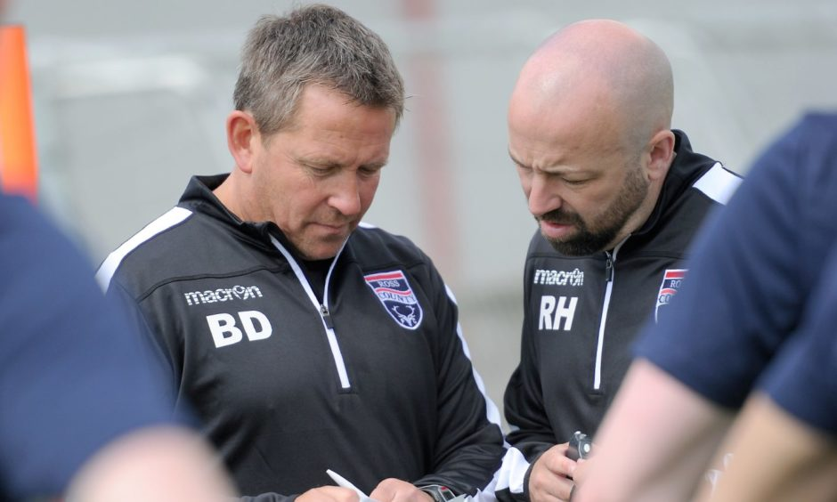 Ross Hughes (right) with Billy Dodds while in Ross County.