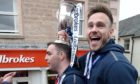 Keith Watson, right, celebrates winning the Championship with Ross County in 2019. Picture by Sandy McCook