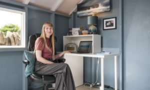 Ms Hughes in her award-winning home office.