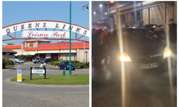 Police are investigating the weekend car gathering at Queens Links.