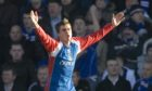 Craig Dargo after scoring for Caley Thistle against Rangers in 2006.