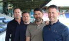 Ross County's coaching line-up, from left: manager Malky Mackay, Don Cowie, Stuart Taylor, Enda Barron.
