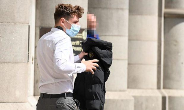 Ryan Sim leaving Aberdeen Sheriff Court.