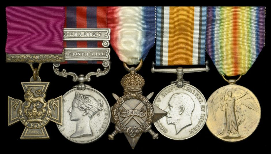 A collection of medals including a Victoria Cross won by Colonel Grant of Bourtie, near Oldmeldrum, for his bravery in a controversial war during the era of the British Raj sold for £420,000 at auction.
