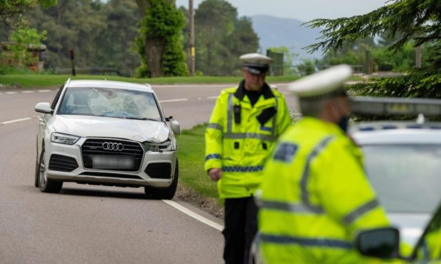 Three 16-year-olds in hospital following crash on A82.