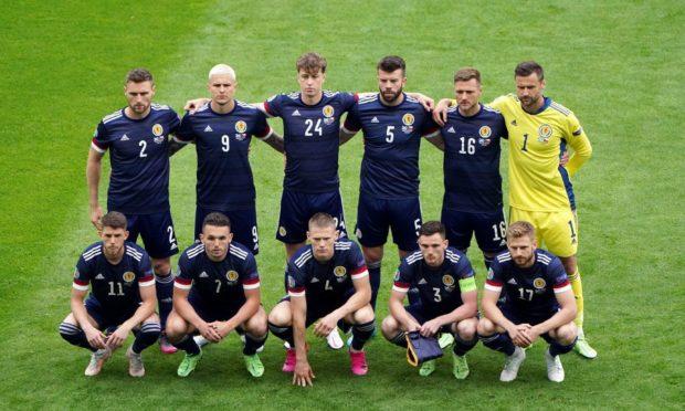 Scotland's starting XI.