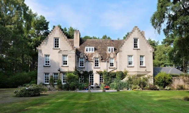 Sandwood House, Nairn, offers nine acres of privacy.