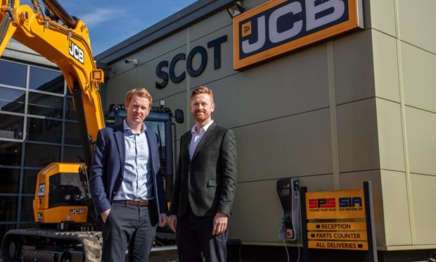 The Scot JCB Group joint managing directors Iain and Robin Bryant.