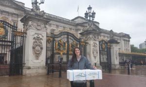 Delivery of OSH's first harvest to the gates of Buckingham Palace