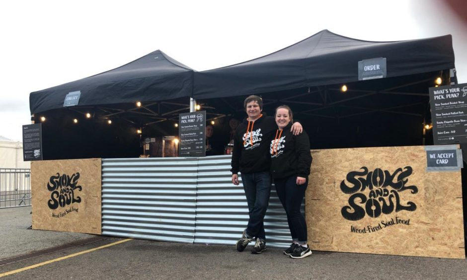 Corey and Lindsay, owners of Smoke and Soul.