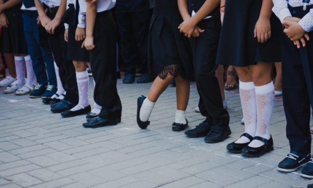 As temperatures soared, girls at Oban High School were being reprimanded for failing to wear tights.