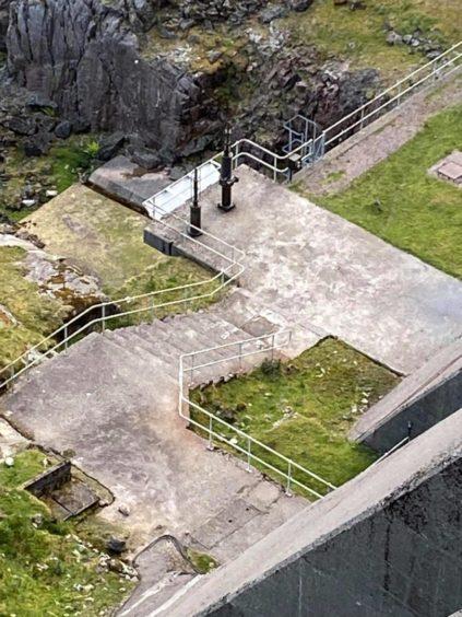 Guns on Cruachan Dam.