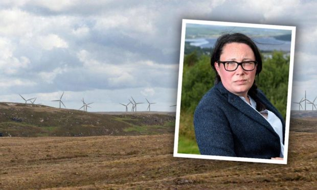 Strathy South photo montage and Councillor Kirsteen Currie