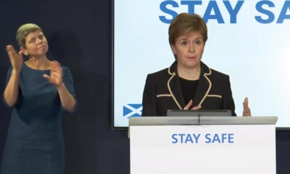 covid briefing Sturgeon