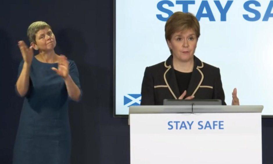 Nicola Sturgeon will hold a coronavirus briefing at 12.15pm.