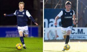 Lyall Cameron, left, and Josh Mulligan are returning to Peterhead on loan