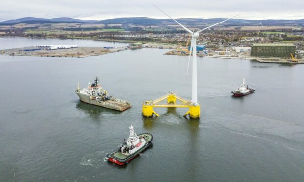 Floating wind technology will be a key part of Opportunity Cromarty Firth's bid for a green port. focus of