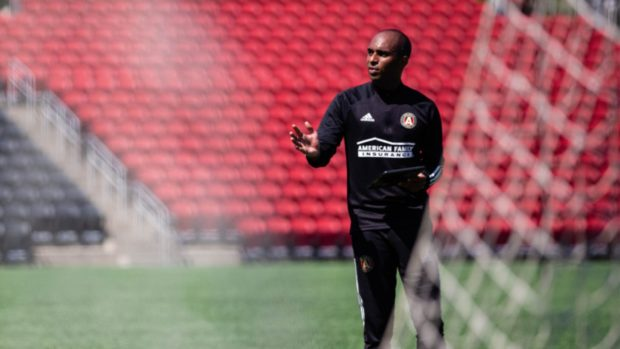 Aberdeen's new assistant coach Henry Apaloo