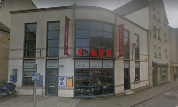 The incident took place at Charlie's Cafe in Inverness