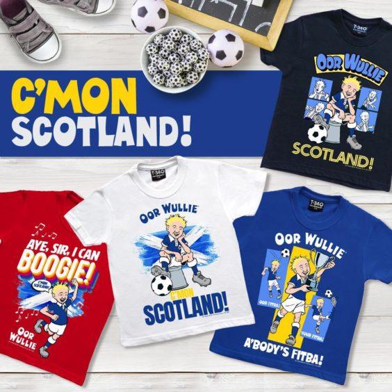 Oor Wullie Retro Scotland Children's T-Shirts.
