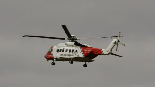 A Coastguard helicopter that was conducting a training exercise in the area joined the search.