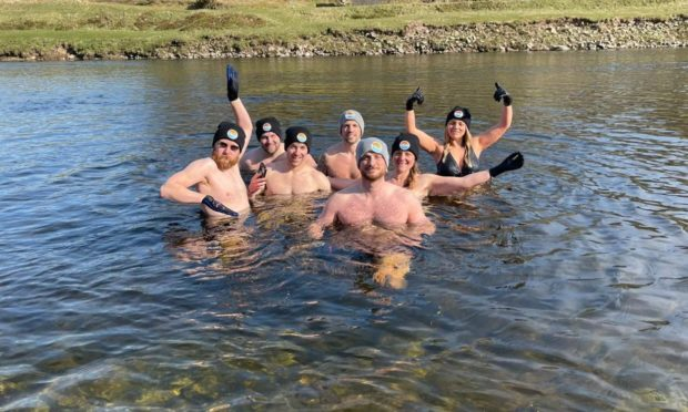 The Wet Bandits swimming group. Photograph courtesy of Sam Brill.