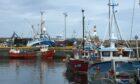 Fishing vessels in Fraserburgh harbour.