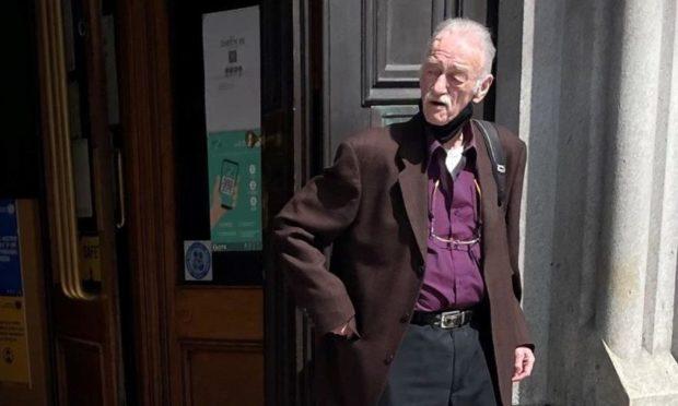 Thomas Manson outside court.