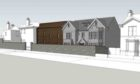 An artist's impression of the development proposed for Maryfield House in Aberdeen.